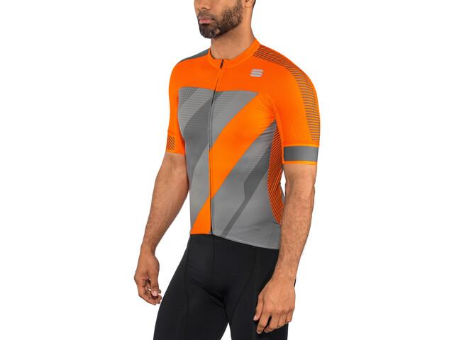 Sportful Bodyfit Pro 2.0 X Jersey Herre dry green/orange sdr/red